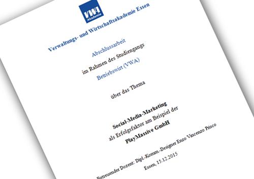 Social-Media-Marketing als Erfolgsfakor am Beispiel der PlayMassive GmbH