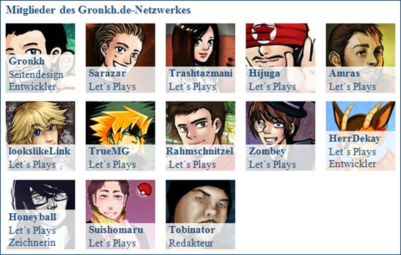 Mitglieder Gronkh-Netzwerk