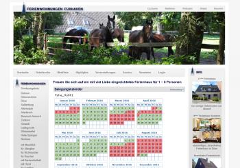 ferienwohnung-cuxhaven.eu<br />Buchungskalender
