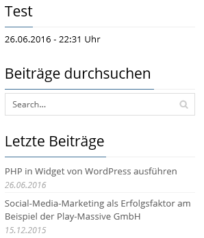 PHP-Code wird in Sidebar angezeigt