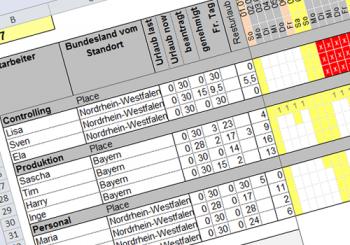 Kostenloser Urlaubsplaner in Excel (Update: 01.01.2020)