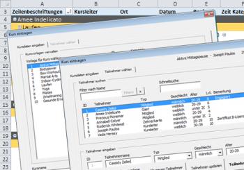 Kostenloses Tool – Teilnehmermanagement in Excel